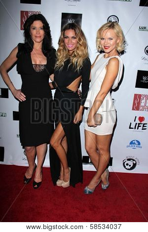Julie Lott Gallo, Jasmine Dustin, Anya Monzikova at the No Kill L.A. Charity Event, Fred Segal, West Hollywood, CA 04-02-13