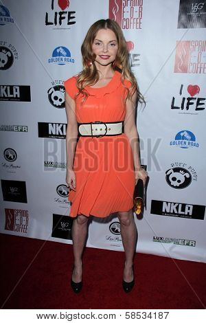Izabella Miko at the No Kill L.A. Charity Event, Fred Segal, West Hollywood, CA 04-02-13