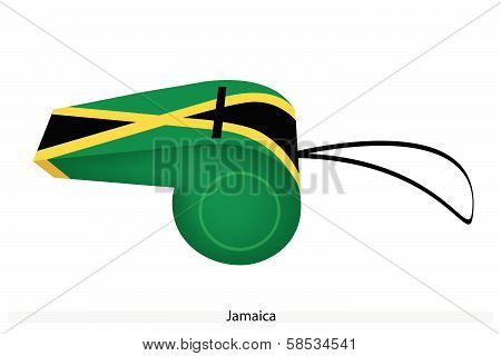 A Black, Yellow And Green Whistle Of Jamaica