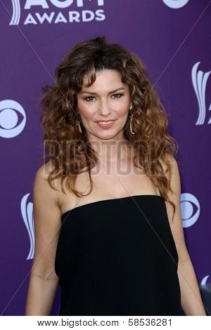 Shania Twain at the 48th Annual Academy Of Country Music Awards Arrivals, MGM Grand Garden Arena, Las Vegas, NV 04-07-13