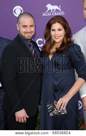 Hillary Scott and Chris Tyrrell at the 48th Annual Academy Of Country Music Awards Arrivals, MGM Grand Garden Arena, Las Vegas, NV 04-07-13