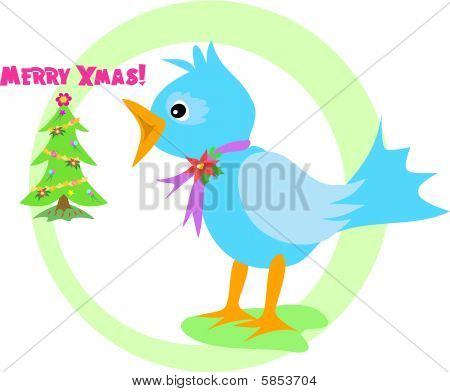 Merry Christmas Blue Bird