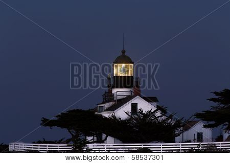 Point Pinos Lighthouse After Dark