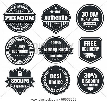 Light And Dark Vintage Ecommerce Badges