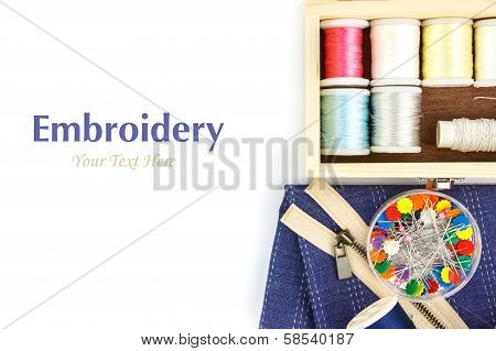 Embroidery Tool  On Right
