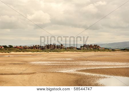 View Of The Town Of Troon In Scotland