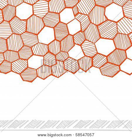 Abstract hand drawn honeycomb