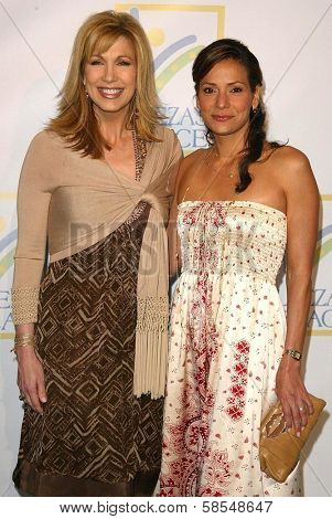 HOLLYWOOD - APRIL 21: Leeza Gibbons and Constance Marie at the opening of Leeza's Place Care Center at Leeza's Place Care Center on April 21, 2006 in Hollywood, CA.