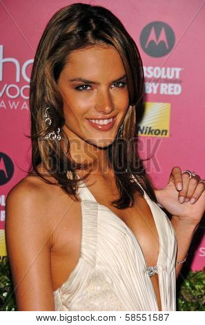 HOLLYWOOD - APRIL 26: Alessandra Ambrosio at the US Weekly Hot Hollywood Awards at Republic Restaurant and Lounge on April 26, 2006 in West Hollywood, CA.