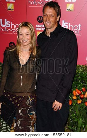 HOLLYWOOD - APRIL 26: Tony Hawk and wife Lhotse Merriam at the US Weekly Hot Hollywood Awards at Republic Restaurant and Lounge on April 26, 2006 in West Hollywood, CA.