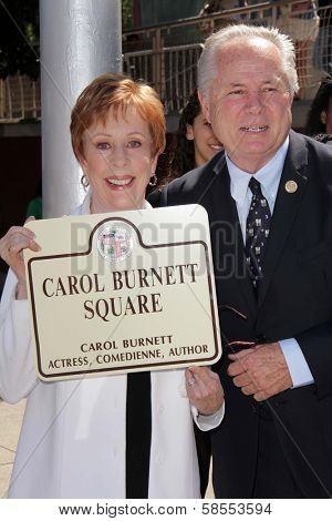 Carol Burnett, Tom LaBonge at the unveiling of Carol Burnett Square at Selma and Highland in Hollywood, 04-18-13