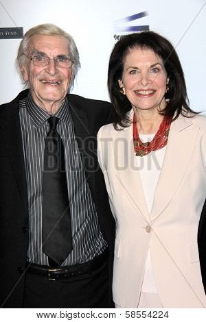 Martin Landau, Sherry Lansing at the  27th Israel Film Festival Opening Night Gala, Writiers Guild Theater, Beverly Hils, CA 04-18-13