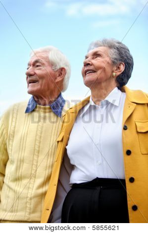 Old Couple Outdoors