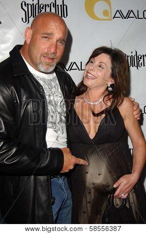 HOLLYWOOD - APRIL 30: Bill Goldberg and Wanda Ferraton at the Larpy Awards at Avalon on April 30, 2006 in Hollywood, CA.