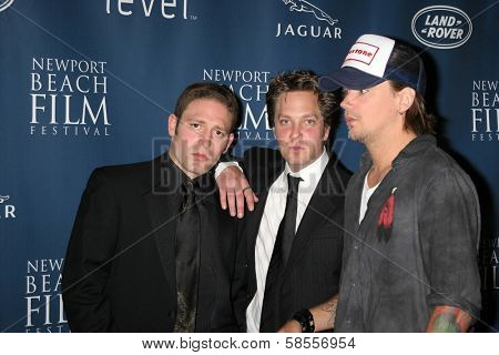 NEWPORT BEACH - APRIL 20: David Weintraub, Randy Spelling and Sean Stewart at the 7th Annual Newport Beach Film Festival Opening Night Screening of
