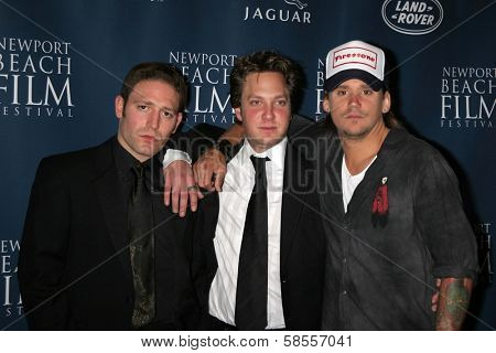 NEWPORT BEACH - APRIL 20: David Weintraub, Randy Spelling, Sean Stewart at the 7th Annual Newport Beach Film Festival Opening Screening of