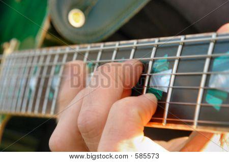 Fingersetting en el cuello de la guitarra