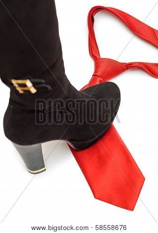 Shoe Steps On A Necktie