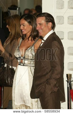 HOLLYWOOD - APRIL 17: Ines Sastre and Andy Garcia at the Los Angeles Premiere of