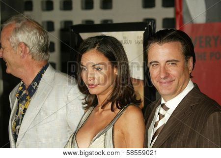 HOLLYWOOD - APRIL 17: Bill Murray with Ines Sastre and Andy Garcia at the Los Angeles Premiere of