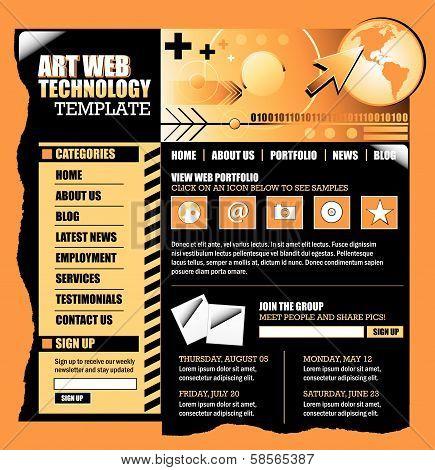 Orange and Black Internet Website Template