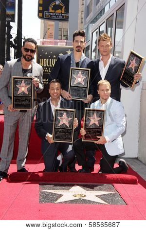 AJ McLean, Howie Dorough, Kevin Richardson, Brian Littrell and Nick Carter at the