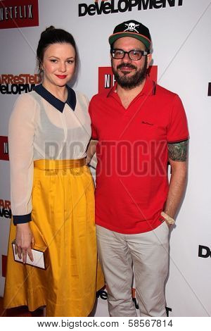 Amber Tamblyn and David Cross at the