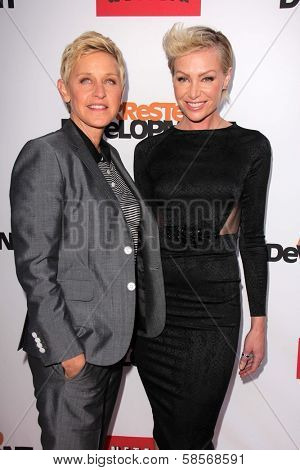 Ellen Degeneres, Portia de Rossi at the