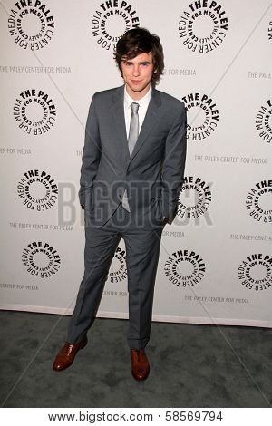 Freddie Highmore at Bates Motel: Reimagining A Cinema Icon, Paley Center for Media, Beverly Hills, CA  05-10-13