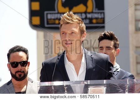 AJ McLean, Nick Carter, Kevin Richardson at the