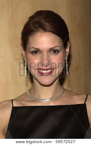 Sheeri Rappaport at the 6TH ANNUAL GOLDEN SATELLITE AWARDS:  Thrown by the International Press Academy, honoring Moulin Rouge and Karl Malden at St. Regis Hotel, Century City, 01-19-02