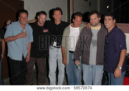 Reverend Bob Levy, K.C. Armstrong, Mike Spomberg, Nick Di Paolo, Artie Lange and Gary Dell'Abate at the FM Talk Brew Ha Ha comedy show, sponsored by The Canyon Club, Agoura Hills, CA 06-12-04