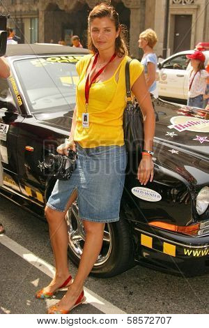 Helena Christensen at the Bullrun Rally 2004, Hollywood, CA 06-05-04