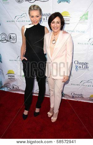 Patricia Heaton and Portia de Rossi at the Compton Jr, Posse Gala honoring Patricia Heaton and Portia de Rossi, Burbank Equestrian Center, Burbank, CA 05-18-13