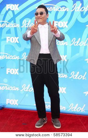 Psy at the American Idol Season 12 Finale Arrivals, Nokia Theater, Los Angeles, CA 05-16-13