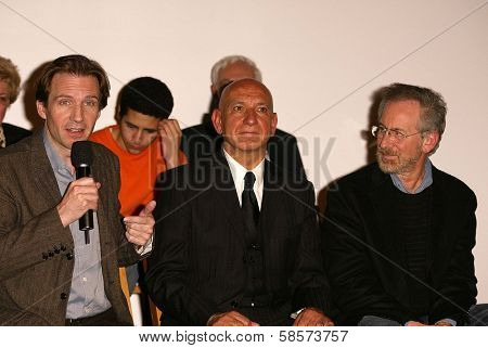 Ralph Fiennes, Sir Ben Kinglsey and Steven Spielberg at the Legacy of