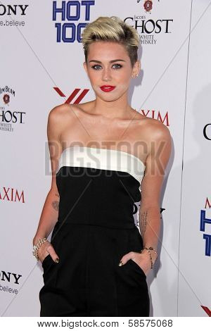 Miley Cyrus at the 2013 Maxim Hot 100 Party, Vanguard, Hollywood, CA 05-15-13