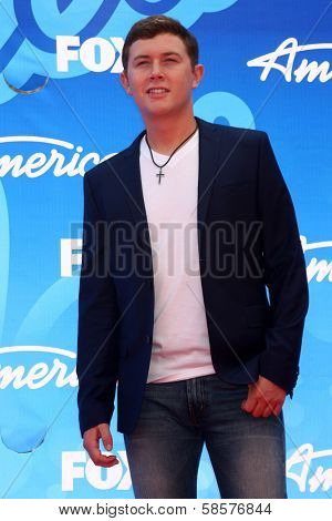Scotty McCreery at the American Idol Season 12 Finale Arrivals, Nokia Theater, Los Angeles, CA 05-16-13