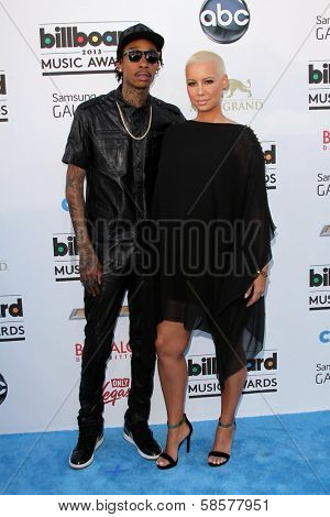 Wiz Khalifa and Amber Rose at the 2013 Billboard Music Awards Arrivals, MGM Grand, Las Vegas, NV 05-19-13