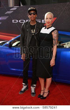 Wiz Khalifa and Amber Rose at the