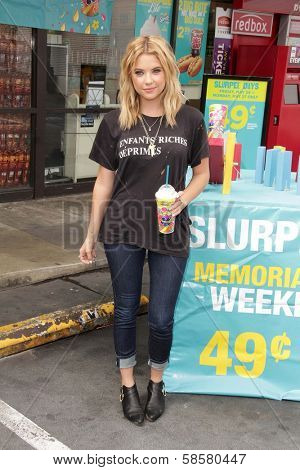Ashley Benson at the Launch of 7-Eleven's Summer Slurpee Days , 7-Eleven, Los Angeles, CA 05-22-13
