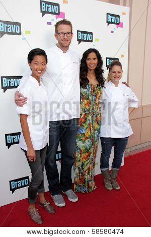 Kristen Kish, CJ Jacobsonat, Padma Lakshmi and Brooke Williamson at the Bravo Media's 2013 For Your Consideration Emmy Event, Leonard H. Goldenson Theater, North Hollywood, CA 05-22-13
