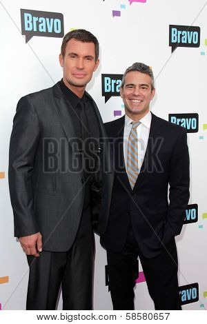 Jeff Lewis and Andy Cohen at the Bravo Media's 2013 For Your Consideration Emmy Event, Leonard H. Goldenson Theater, North Hollywood, CA 05-22-13