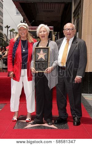 Diane Ladd, Olympia Dukakis and Ed Asner at the Olympia Dukakis Star on the Hollywood Walk of Fame Ceremony, Hollywood, CA 05-24-13