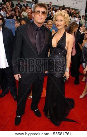 HOLLYWOOD - APRIL 28: Schae Harrison and friend at The 33rd Annual Daytime Emmy Awards at Kodak Theatre on April 28, 2006 in Hollywood, CA.