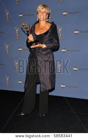 HOLLYWOOD - APRIL 28: Suze Orman in the press room at The 33rd Annual Daytime Emmy Awards at Kodak Theatre on April 28, 2006 in Hollywood, CA.