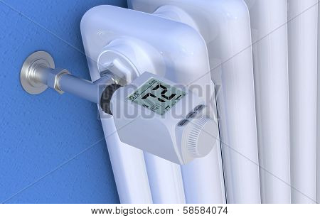 Radiator And Thermostat