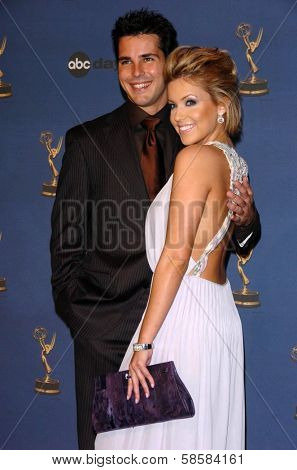 HOLLYWOOD - APRIL 28: Jason Cook and Farah Fath in the press room at The 33rd Annual Daytime Emmy Awards at Kodak Theatre on April 28, 2006 in Hollywood, CA.