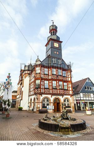 Famous Timbered Town Hall  In Lorsch