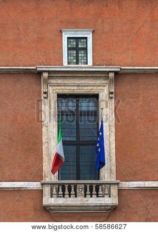 Balcony Of Palazzo Venezia, Rome